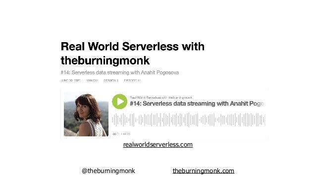 @theburningmonk theburningmonk.com Kinesis Lambda ?Publisher(s) Firehose S3 Athena