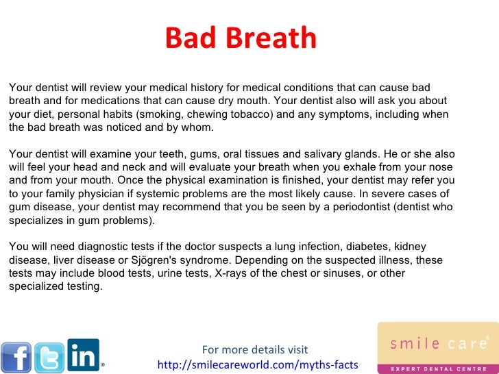 Bad Breath; 5.