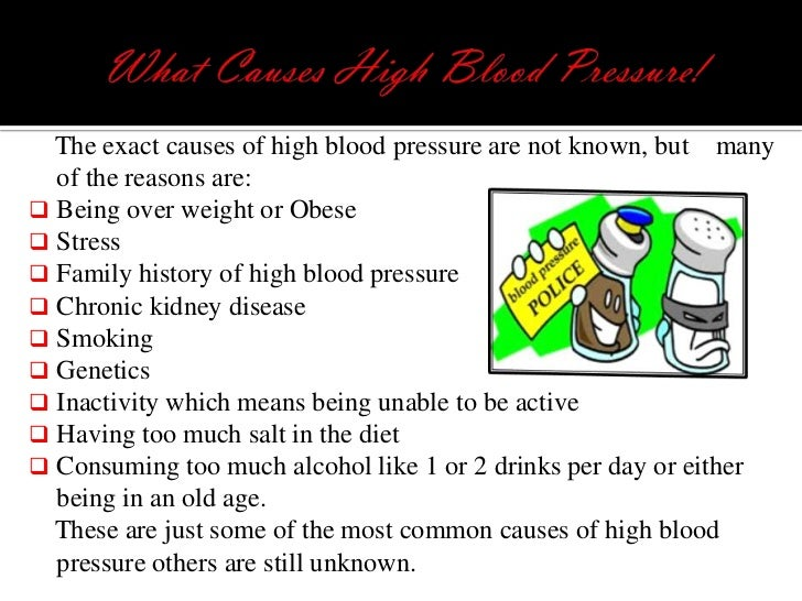 what causes high blood pressure?,