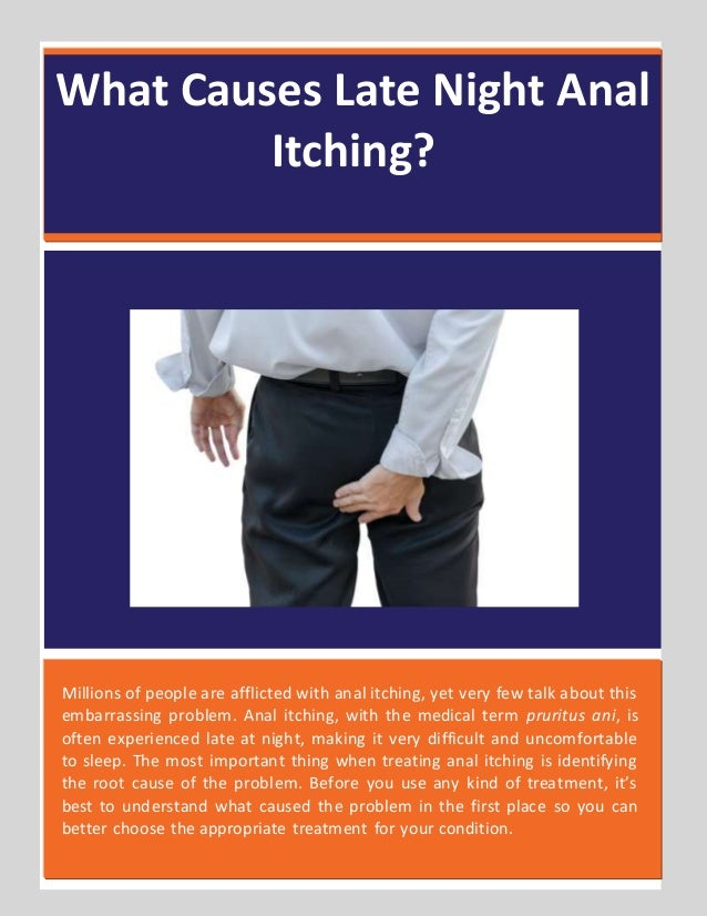 How To Cure Anal Itching