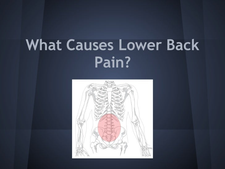 What causes lower back pain - photo#36