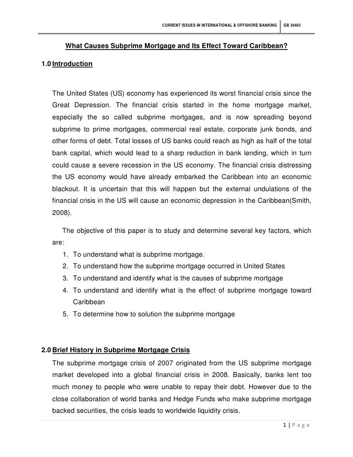 sania mirza pdf  current issues in international offshore banking gb 30403 what causes subprime mortgage and its effect