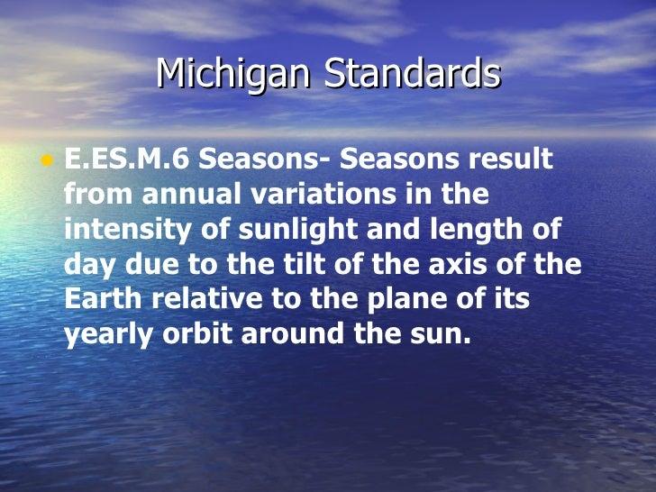 What causes seasons on earth Slide 2