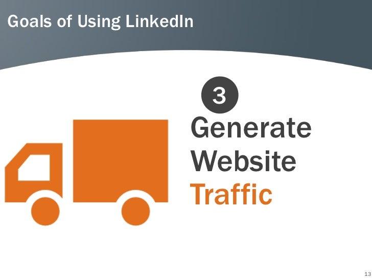 Goals of Using LinkedIn                          3                      Generate                      Website             ...