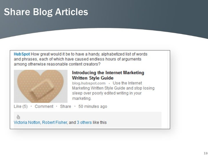 Share Blog Articles                      19