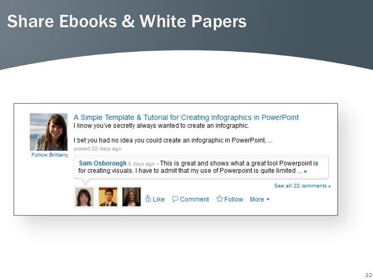 Share Ebooks & White Papers                              22
