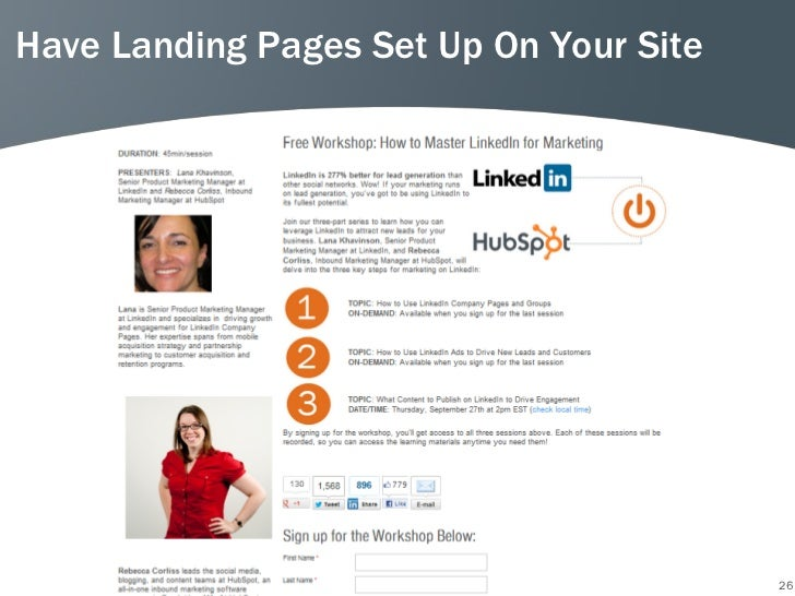 Have Landing Pages Set Up On Your Site                                         26