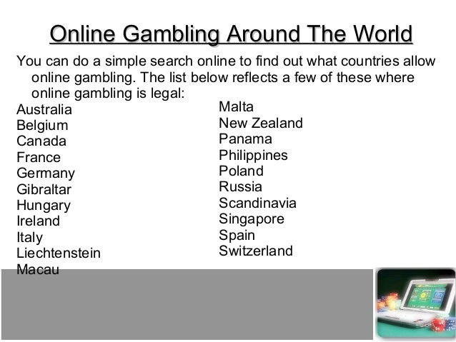 Countries that have legalized online gambling what are the games in the casino