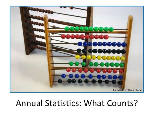 From flickr by H is for homeAnnual Statistics: What Counts?