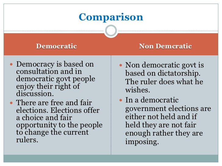 Essay On Democracy And Non Democracy