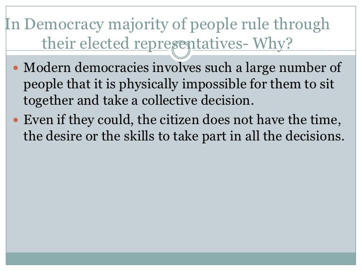 Aims of Good Democracy True democracy will come to this country only when  no one goes hungry to bed. In a democracy eve...