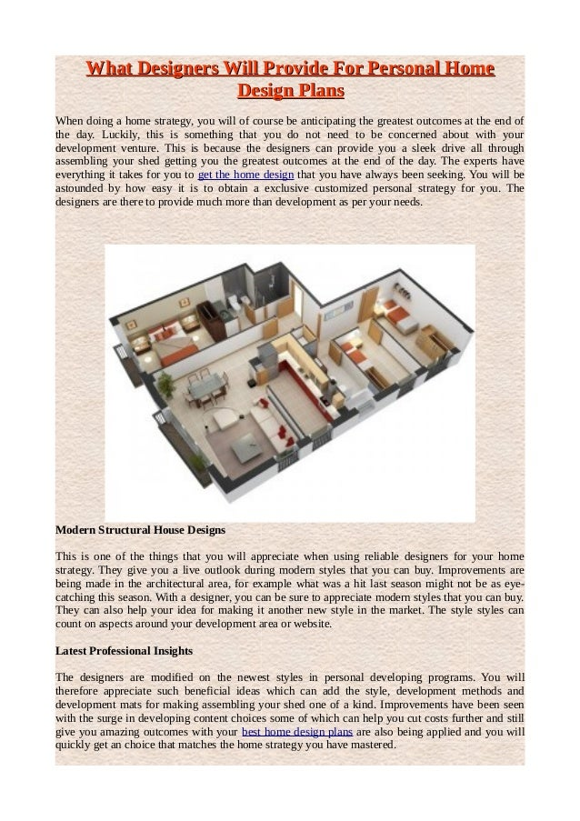 What Designers Will Provide For Personal HomeWhat Designers Will Provide  For Personal Home Design PlansDesign Plans ...
