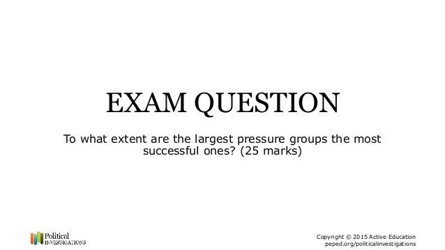 what factors determine the success of a pressure group essay Why are some pressure groups more successful than others  determine its success if a pressure group has support from celebrities, it can become more well known .