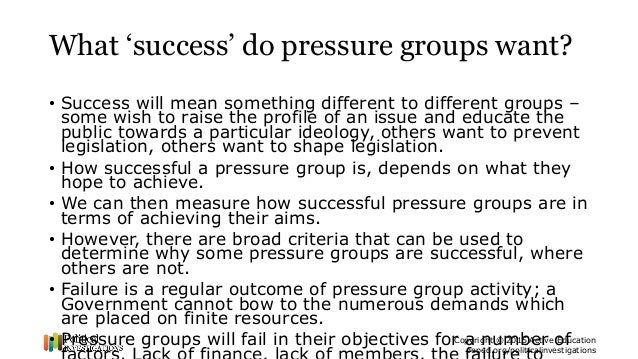 examples of pressure groups