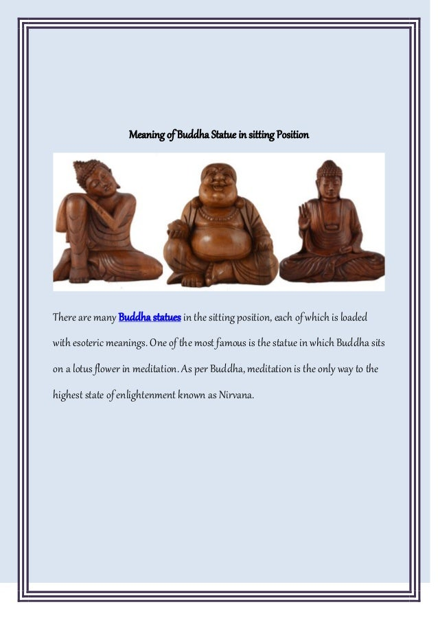 What Does A Buddha Statue Mean