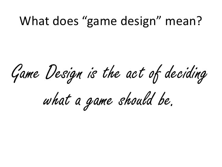 What Does A Game Designer Do - What does a game designer do