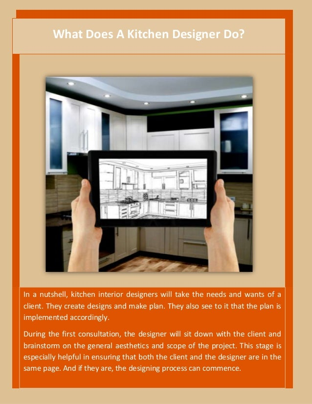 what does a kitchen designer do? the plan and duties explained