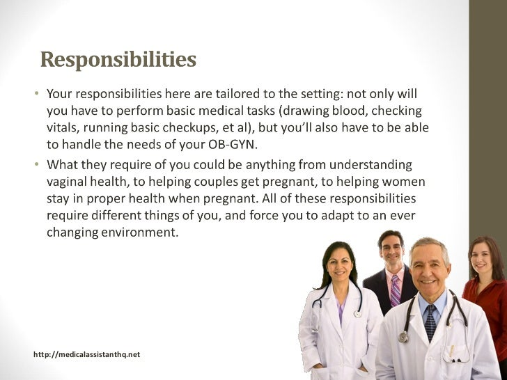 Medical Assistant Responsibilities In The Office] Duties Of A ...