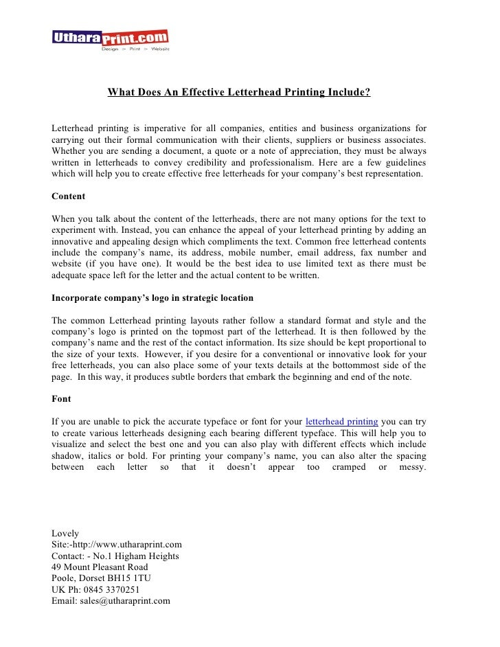 what is business letterhead
