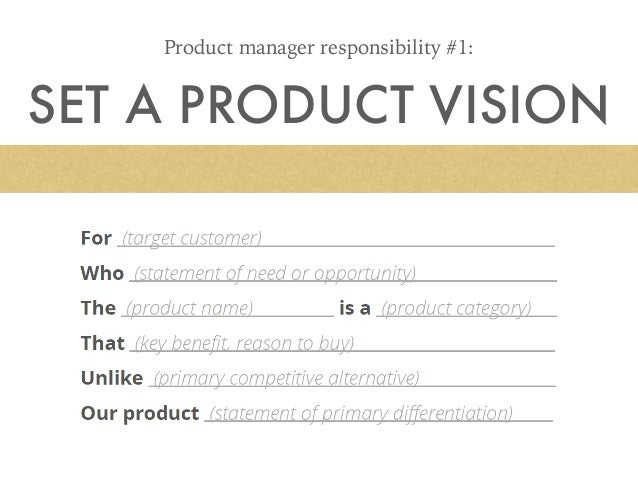 set a product vision product manager responsibility 1
