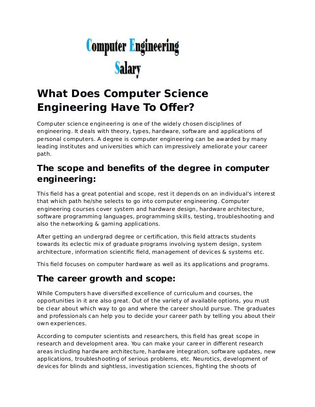 What does computer science engineering has to offer what does computer science engineering have to offer computer science engineering is one of the solutioingenieria Choice Image
