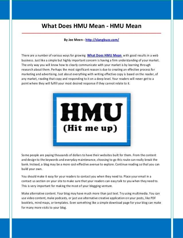 What Does HMU Mean - HMU Mean_____________________________________________________________________________________        ...
