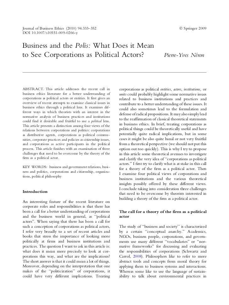 Journal of Business Ethics (2010) 94:333–352                                                                Ó Springer 200...
