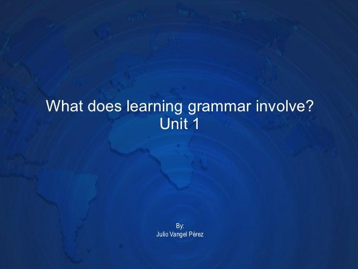 What does learning grammar involve? Unit 1 By: Julio Vangel Pérez