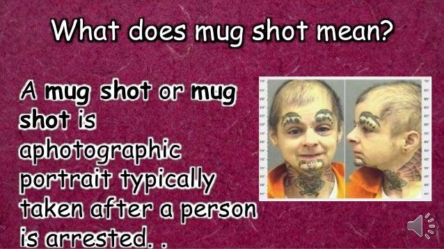 What does mug shot mean