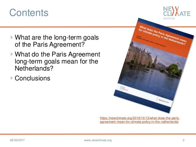 What Does The Paris Agreement Mean For Climate Policy In The Netherla