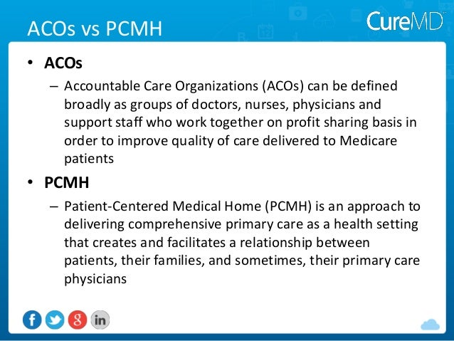 Medical home model and aco