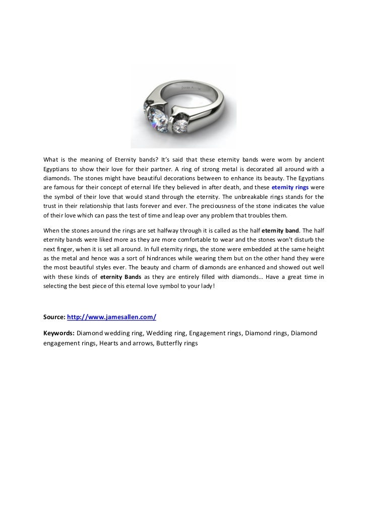 What Does The Eternity Bands Symbolize