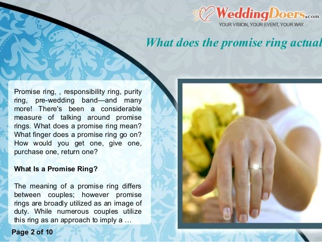 What Does The Promise Ring Actually Mean
