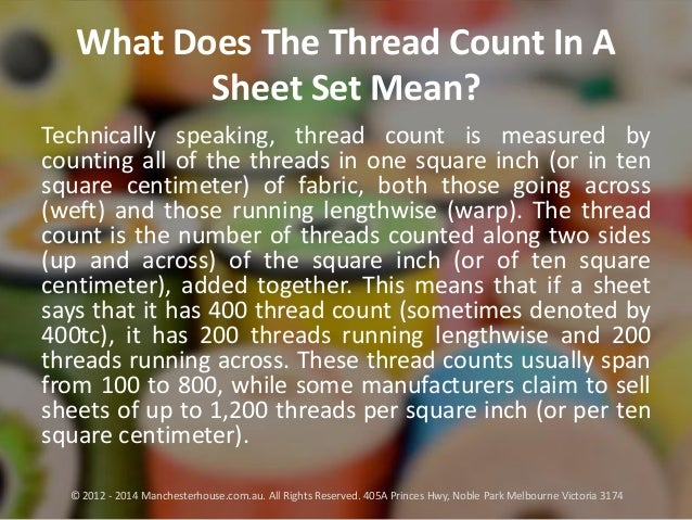 what does the thread count in a sheet set mean. Black Bedroom Furniture Sets. Home Design Ideas