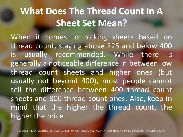 5 when it comes to picking sheets based on thread count