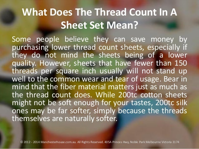 What Does The Thread Count In A Sheet Set Mean