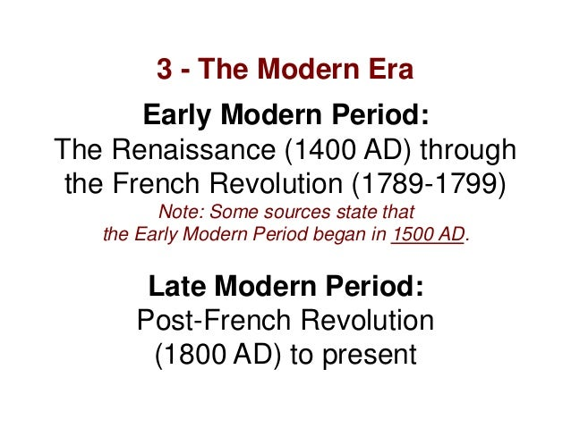 late modern era