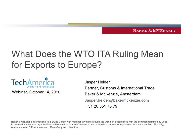 What Does The Wto Ita Ruling Mean For It Exports To Europe