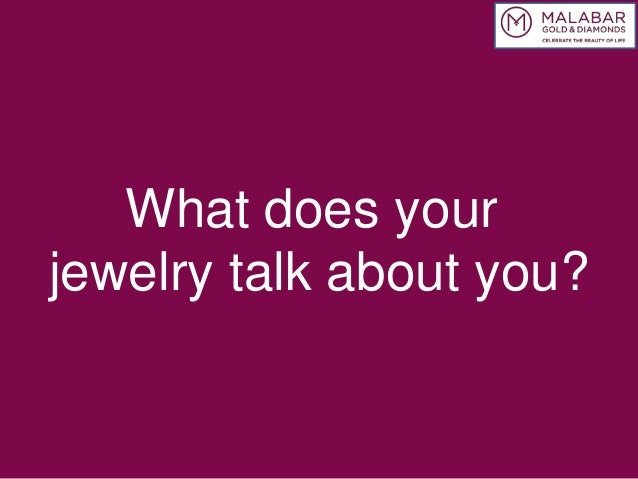 What does your jewelry talk about you?