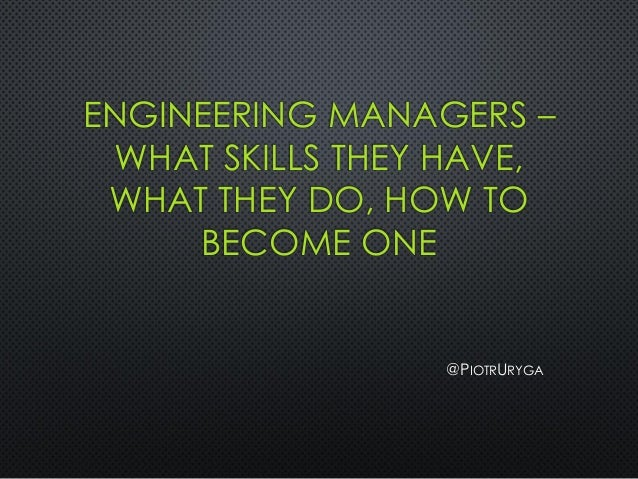 engineering manager how to become