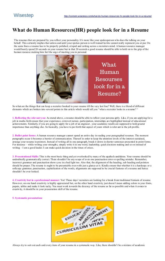 what do recruiters look for in a resume resume ideas