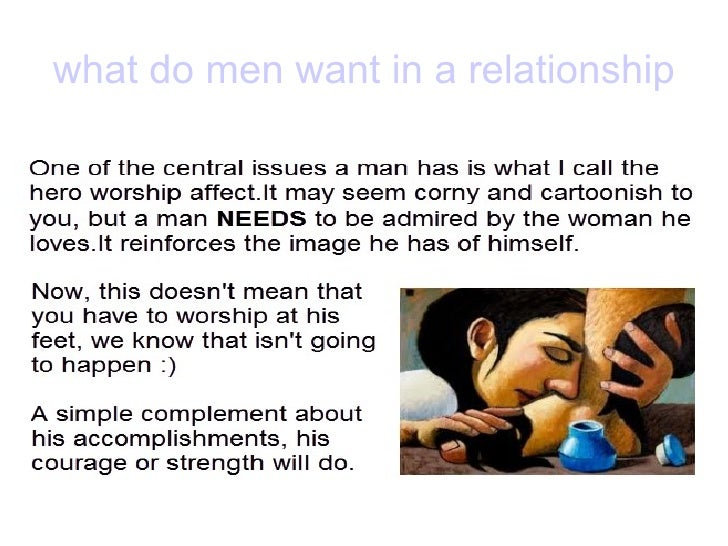 What do i want in a man