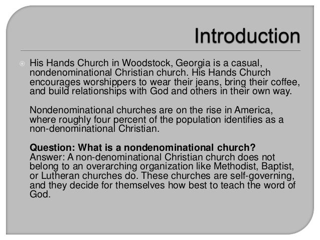 what does the bible say about non denominational churches