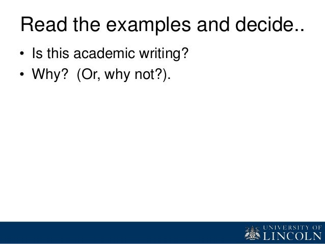 Xotica six features of academic writing
