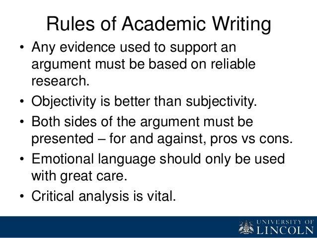 academic writing style exercises