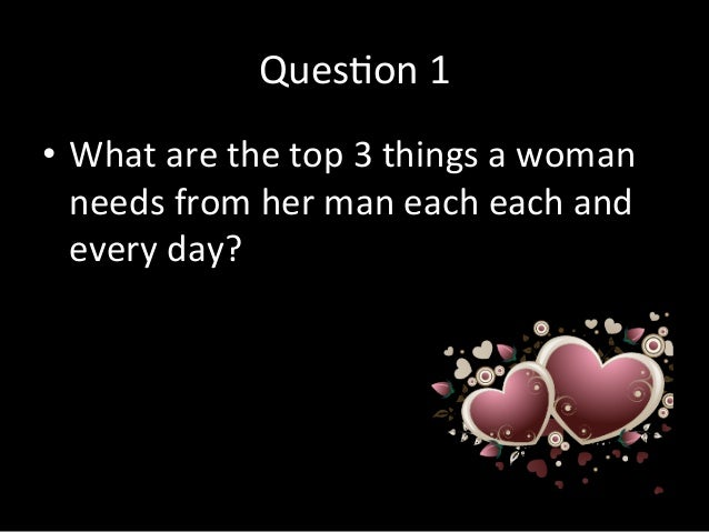 Women Need Man From A What Do