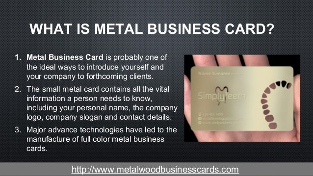 What Do You Know About the Metal Business Cards