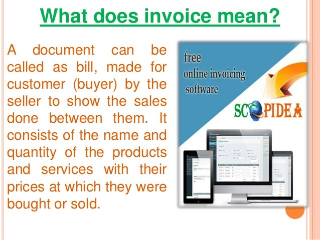 What Does Invoice Mean
