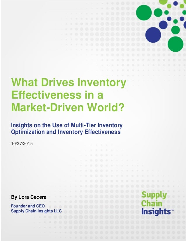 What Drives Inventory Effectiveness in a Market-Driven World?