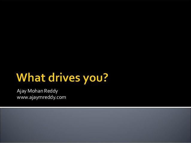 Ajay Mohan Reddywww.ajaymreddy.com